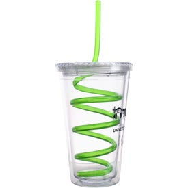 Company Double Wall Tumbler with Twisty Straw