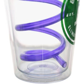 Double Wall Tumbler with Twisty Straw for your School