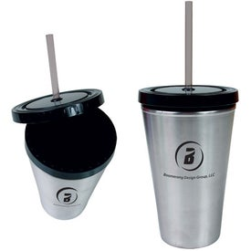 Double Wall Stainless Straw Tumbler with Your Logo