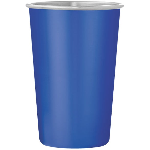 Blue Dubliner Stainless Steel Pint Glass Cup