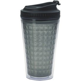 Double Wall Acrylic Tumbler with Black Lid for Marketing