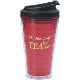 Double Wall Acrylic Tumbler with Black Lid (18 Oz.)
