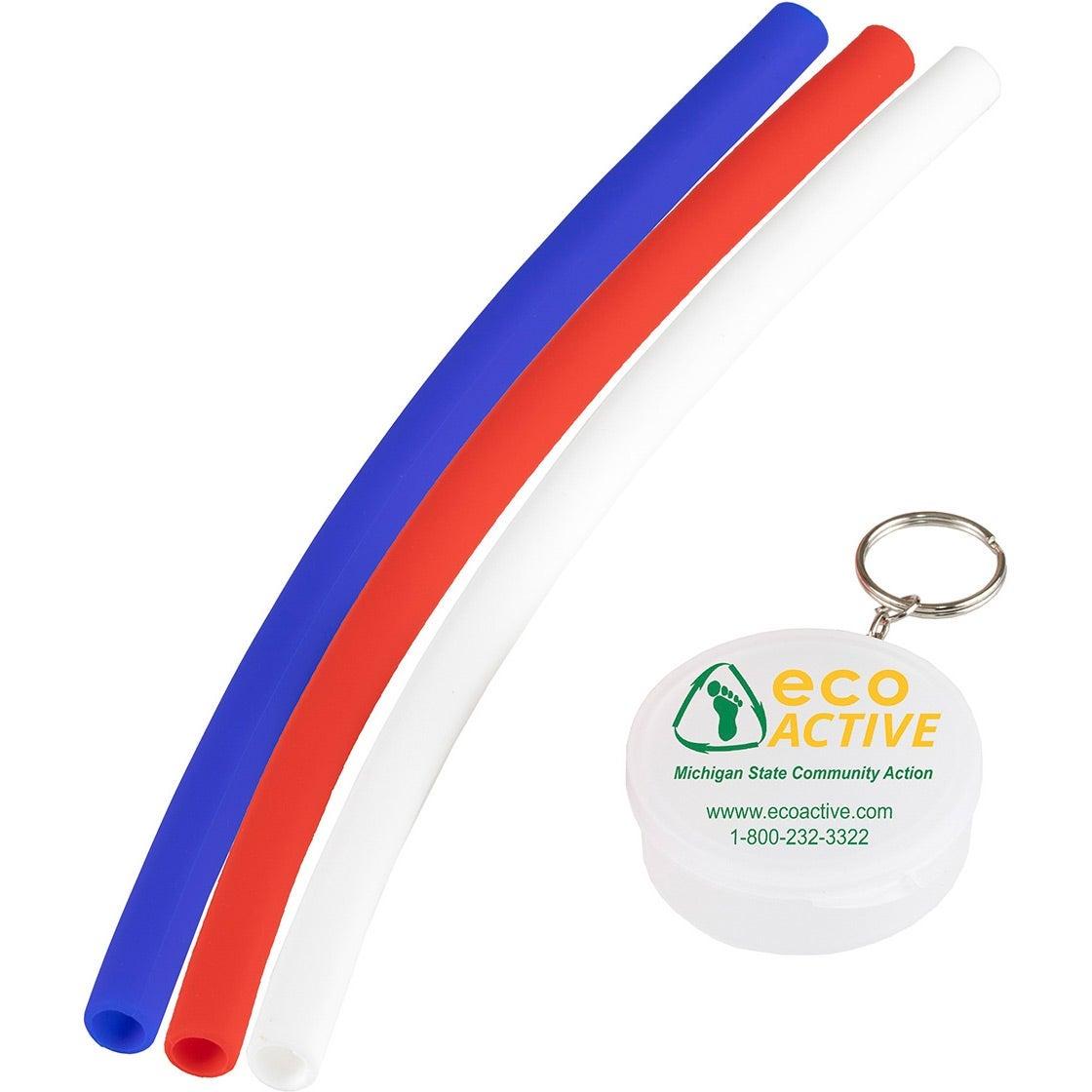 "Eco-Straw Reusable Silicone Straw (10"")"