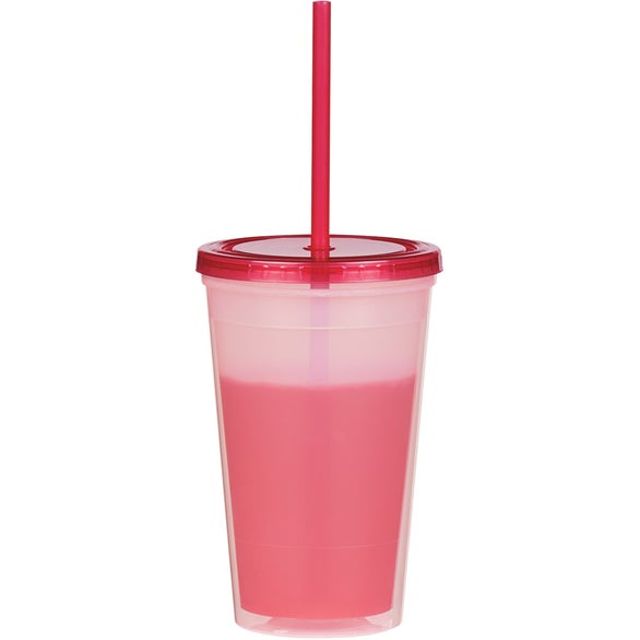 Translucent Red Econo Color Changing Tumbler