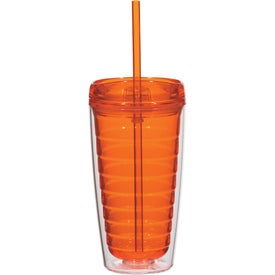 Econo Double Wall Tumbler with Lid And Straw for Your Company