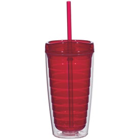 Company Econo Double Wall Tumbler with Lid And Straw