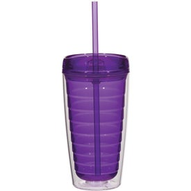 Econo Double Wall Tumbler with Lid And Straw for your School