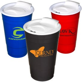Everlasting Party Cup with Lid Imprinted with Your Logo