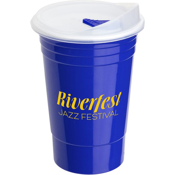 Blue Fiesta Double Wall Insulated Cup