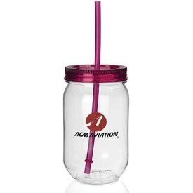 Fiesta Mason Jar Tumbler Imprinted with Your Logo