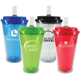 Flip Top Freedom Tumbler with Your Slogan