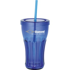 Fountain Soda Tumbler with Straw for Promotion