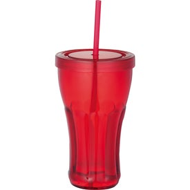 Fountain Soda Tumbler with Straw with Your Logo