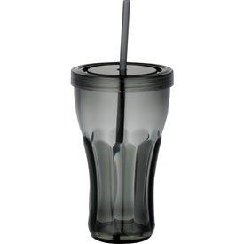 Fountain Soda Tumbler with Straw for Your Company