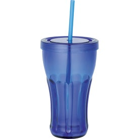Fountain Soda Tumbler with Straw for Your Church