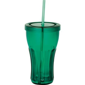 Fountain Soda Tumbler with Straw with Your Slogan