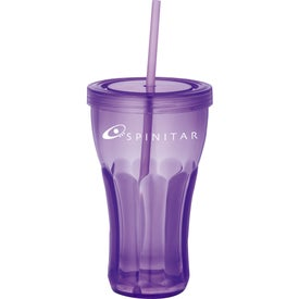 Fountain Soda Tumbler with Straw Branded with Your Logo