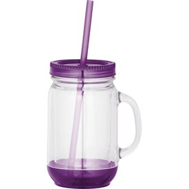 Branded Game Day Double-Wall Mason Jar