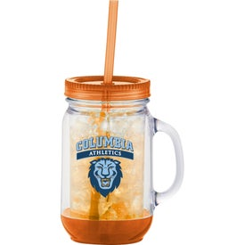 Monogrammed Game Day Double-Wall Mason Jar