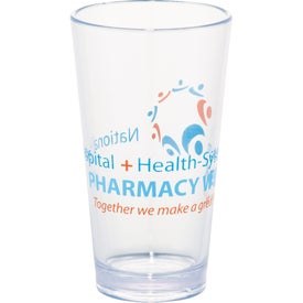Game Day Plastic Pint Glass Printed with Your Logo