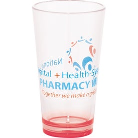 Game Day Plastic Pint Glass for Your Organization