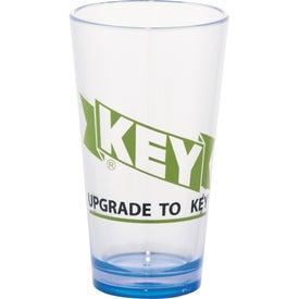 Logo Game Day Plastic Pint Glass