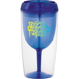 Game Day Wine Glass Cup with Your Logo