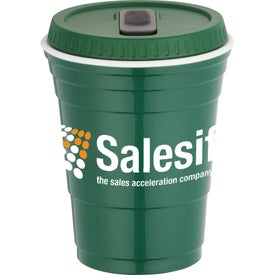 Game Day Party Cup with Lid Imprinted with Your Logo