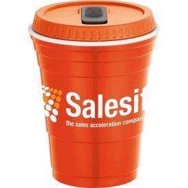 Game Day Party Cup with Lid for Your Company