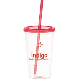 Glacier Tumbler with Straw for Promotion