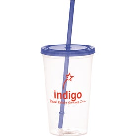 Advertising Glacier Tumbler with Straw