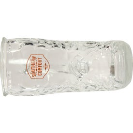 Glass Boot Mug with Your Slogan
