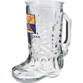 Customized Glass Boot Mug