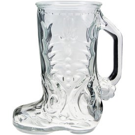 Glass Boot Mug Branded with Your Logo