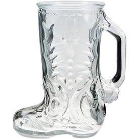 Glass Boot Mug Branded with Your Logo