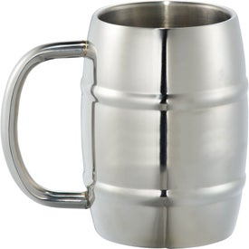 Growl Stainless Barrel Mugs (14 Oz.)