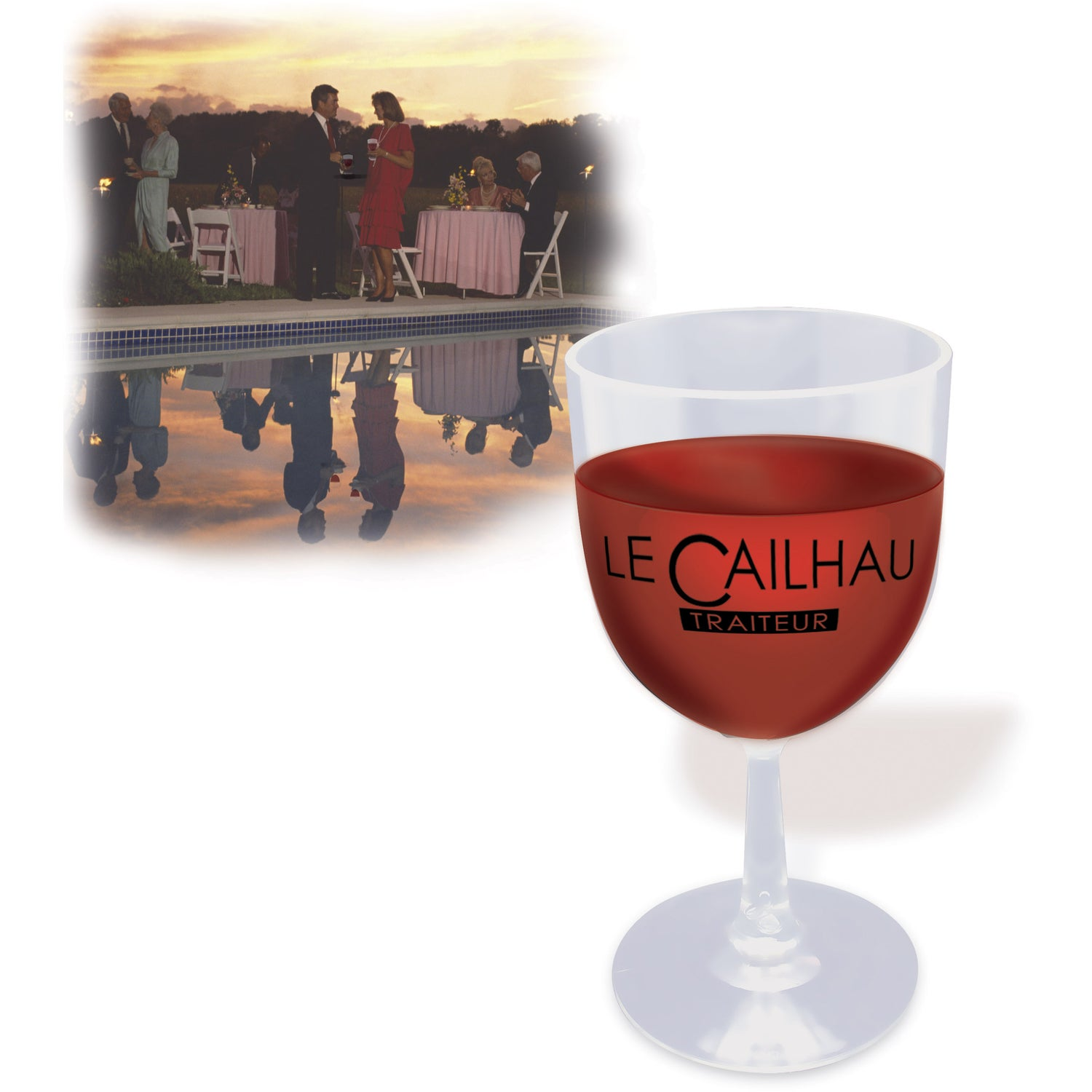 Promotional Heres To You Plastic Wine Glasses With Custom Logo For