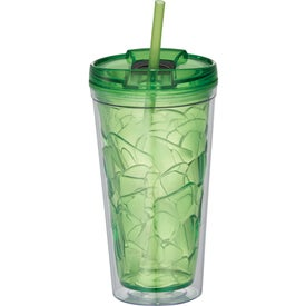 Hot and Cold Bloom Geometric Tumbler (16 Oz.)