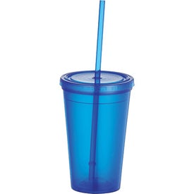 The Iceberg Tumbler with Straw with Your Slogan