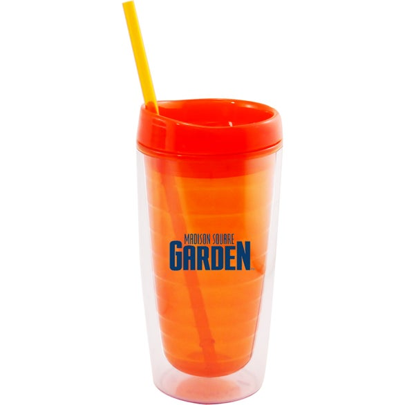 Orange Insulated Acrylic Tumbler