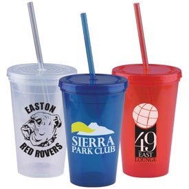 Insulated Straw Tumbler (16 Oz.)
