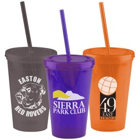 Insulated Straw Tumbler Printed with Your Logo