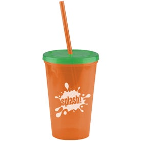 Insulated Straw Tumbler Branded with Your Logo