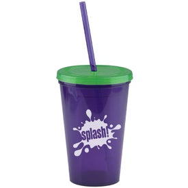Advertising Insulated Straw Tumbler
