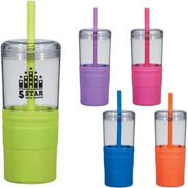 Jelly Straw Tumbler (21 Oz.)