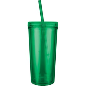Jewel Niagara Tumbler with Screw on Straw Lid for your School