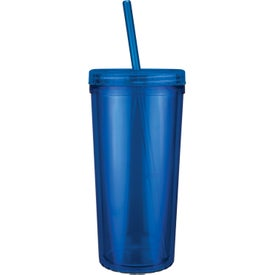 Personalized Jewel Niagara Tumbler with Screw on Straw Lid