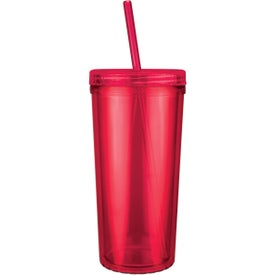 Jewel Niagara Tumbler with Screw on Straw Lid Printed with Your Logo