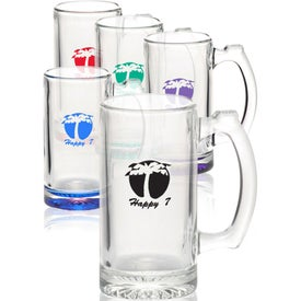 Libbey Groomsmen Glass Beer Mugs (12 Oz.)