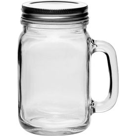 Libbey Handle Mason Jar with Lids (16 Oz.)